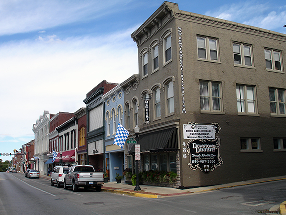 Main Street in historic downtown Paris Kentucky